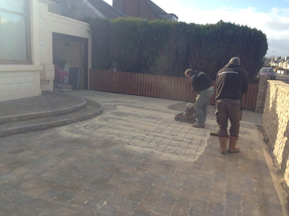 sanding driveway